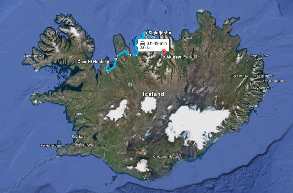 Tröllaskagi Peninsula, Siglufjörður, and couchsurfing in Akureyri - Iceland Road Trip Day 2